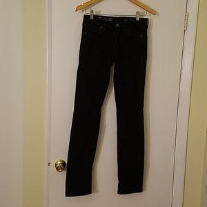 Madewell Rail Straight Black Jeans Sz 26 Length 34